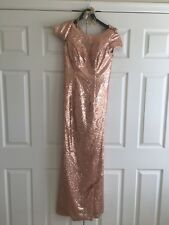 bridesmaid dress, sequins, size 4, worn once, asking $50