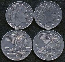 Italy 1940(Mag) 1941(Mag) 20 Centesimi 1940(Mag) 1941(Mag) 50 Centesimi Coins