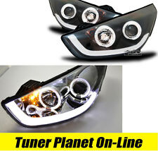 FARI ANTERIORI HYUNDAI IX35 ANGEL EYES TUBE LED NERI o CROMO