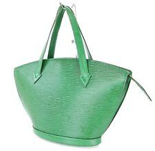 Authentic LOUIS VUITTON Saint Jacques Green Epi Leather Tote Bag Purse #33714