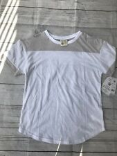 Exist Womens White Heather Grey Silver Size Small Shirt New