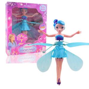 Flying Fairy Bambola Fata volante con sensori , Drone doll Toys (Turchese)