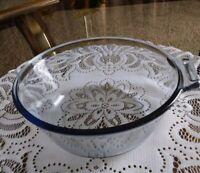 Vintage Pyrex Blue Flameware 832B skillet Saucepan Cooking pot