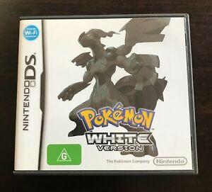 Nintendo POKEMON WHITE DS game Australian issue (FREE POSTAGE OPTION)