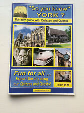 YORK; FUN CITY GUIDE WITH QUIZZES AND QUESTS - 46 page paperback + plan (L2)