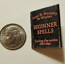 Miniature dollhouse Halloween witch spell book Barbie 1/12 Scale   Haunted NE