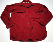 EUC Vintage LL Bean Red Chamois Cloth Long Sleeve Button Up Size Large 16 USA