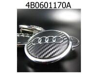 4x 69mm Audi Schwarz Carbon Nabendeckel Felgendeckel 4B0601170A NEU!