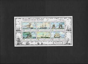 "TURKS & CAICOS  SS # 285a (1)  MNH  ""Sailing Ship""  1973 issue"