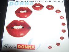 Donna - Here's Donna (Dj Miko / Nu-Q) Rare Australian Remixes CD Single