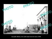 OLD LARGE HISTORIC PHOTO OF SEXSMITH ALBERTA, THE MAIN STREET & STORES c1940