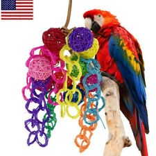 New listing Pets Parrot's Vine Wood Bird Chewing Toys Large Rope Cave Ladder Hang Toys