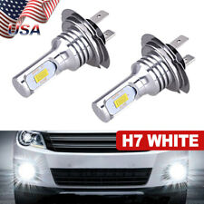 H7 Led Headlight 3570 Chips High Low Beam Bulb Kit 6000K White 55W 8000Lm Bright