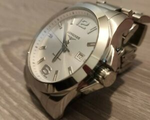 Immaculate Longines Conquest Stainless Steel 43mm Silver Dial Absolutely Mint !