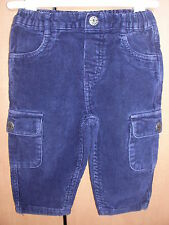 BABBLE BOOM BABY BOYS BLUE CORDS JEANS ** 3-6 MONTHS  ** DEBENHAMS