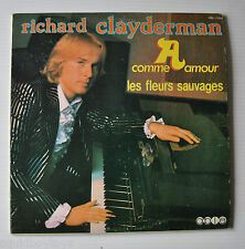 RICHARD CLAYDERMAN: Self Titled LP Record Comme Amour/Fleurs Sauvages