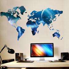 EG _ PVC Carte du monde Art mural décalcomanie autocollant Maison Bureau décor
