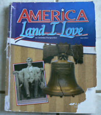 ABeka 8 America,Land I Love,3E Current Text, WORN cover& highlighting $35+