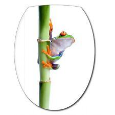 Aufkleber -deckel WC Frosch Bambus 039