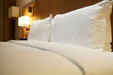 2x Luxury Duck Feather and Down Pillow Comfortable Extra Filling Hotel Quality