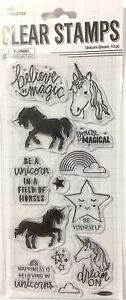 STAMPABILITIES CLEAR STAMPS ~UNICORN DREAMS