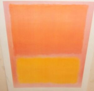 MARK ROTHKO STYLE YELLOW ORANGE LARGE COLOR POSTER UNMARKED
