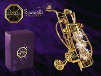 CRYSTAL TEMPTATIONS 7cm Katze 4000 mit klaren Swarovski-Steinen vergoldet ca