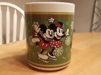 Disney Mickey and Minnie Mouse Christmas ice skating Together Coffee Mug Cup