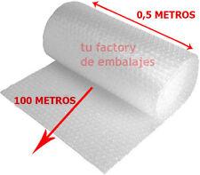 Rollo plastico burbuja transparente 100 metros x 50 cm ancho - envio por agencia