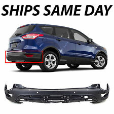 New Textured Black - Rear Bumper Cover Replacement For 2013-2016 Ford Escape