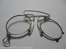 27037 Antiker Kneifer Zwicker Brille Silber Vergoldet 830X Gläser glasses
