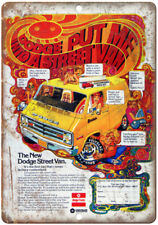 "Dodge Street Van Vintage Ad 10"" x 7"" Reproduction Metal Sign A222"