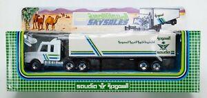 1993 Matchbox Convoy CY16 Scania Box Truck WHITE / SAUDIA