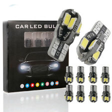 5Pcs Car Interior Bulb T10 White 5730/5630 8SMD LED Side Wedge Light White Bulb