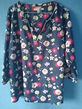 Boden Blue Cotton Floral Top Size 20