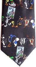 "Looney Tunes Men's Cartoon Novelty Polyester Tie 56"" X 3.75"" Postage Stamps"