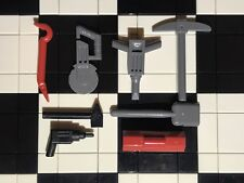 Lego Construction Worker / Builder / Minifigure Tools And Accessories