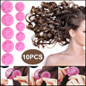 10x Magic Silicone Hair Curlers Rollers No Clip Formers Styling Curling DIY Tool