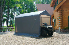 ShelterLogic 6x12x8 Storage Shed Portable Garage Steel Canopy Gray 70413