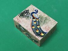 Marble Jewelry Box Peacock Design Hand painted Gifts and Home Decor art crafts