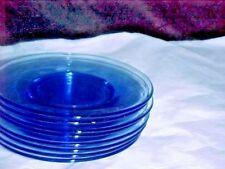 SET OF 8 STUNNING  SALAD      PLATES 1940-50. EX  SHAPE,  LITE BLUE