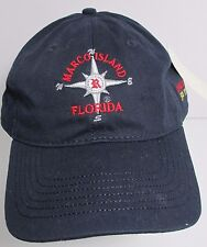 Marco Island Florida Rose Marina Hat Cap Boating USA Embroidery New