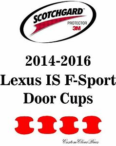 3M Scotchgard Paint Protection Film Pre-Cut Bra 2014 2015 2016 Lexus IS F-Sport