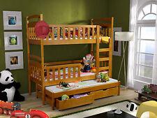 Etagenbett Hochbett Kinderbett Doppelbett VIKI 3 80x180 cm unschädlich lackiert