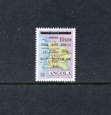 Angola 598, MNH, Map of Angola Overprint 1976  x19311