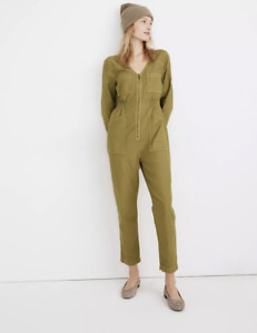 Madewell Garment Dyed Patch Pocket Coverall Jumpsuit Green Size XS MC364