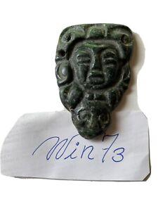 Precolumbian Mayan mezcala  Jade  Stone pendant