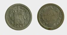 s771_2) NETHERLANDS INDIES - INDIE OLANDESI 1/4 GULDEN 1917 AG