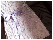New Look purple sparkling bandeau tube mini dress with a bow size S/M RRP £18