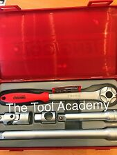 Teng Tools TT1205 5 Pce 1/2 Drive Ratchet & Socket Extension Tool Kit With Case
